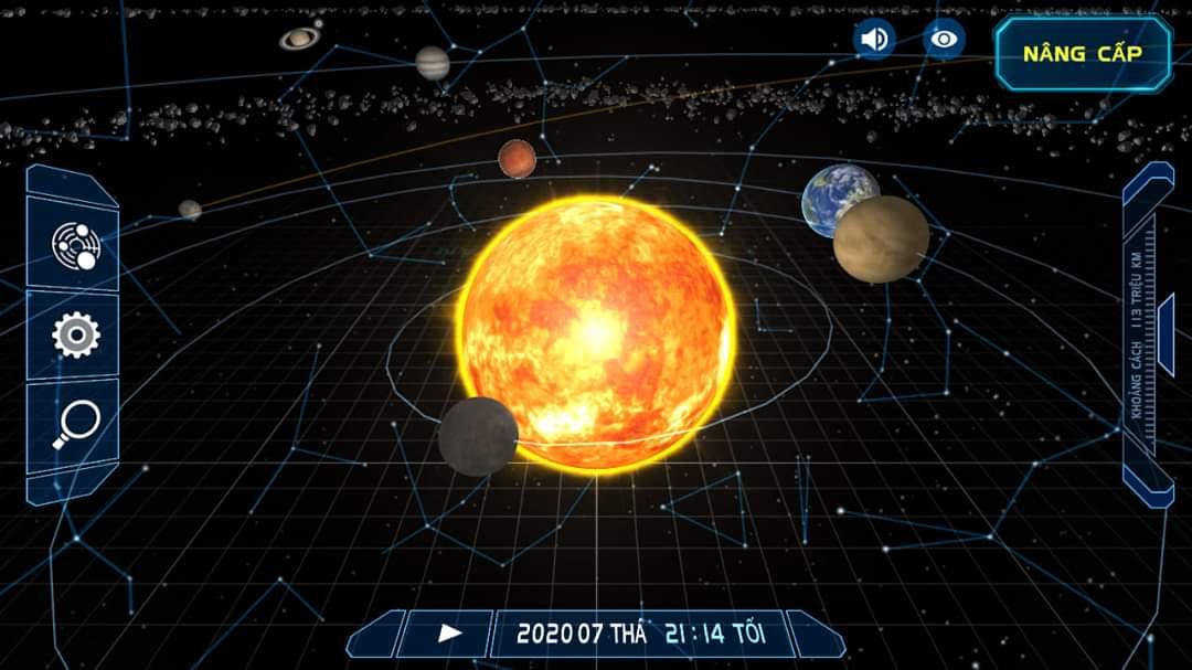 Solar System Scope ứng dụng dành cho người thích khoa học vũ trụ