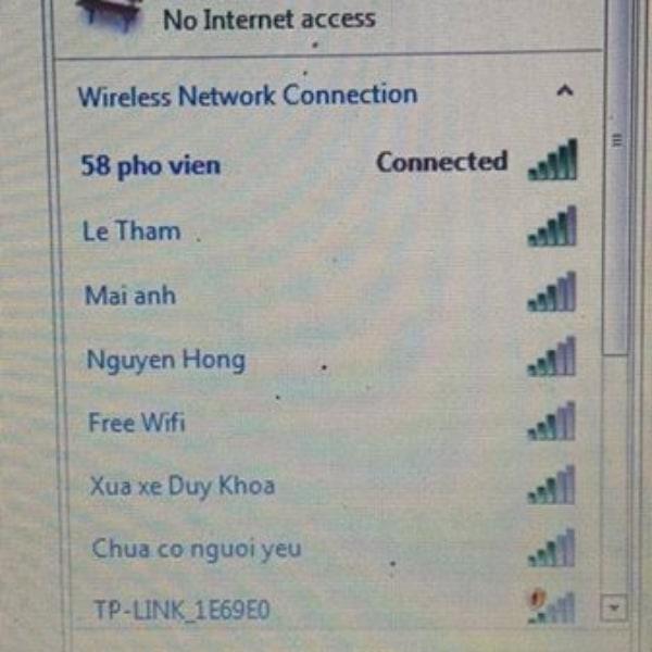 Cái lap của em nó không bắt được mạng wifi này là sao vậy ạ ?