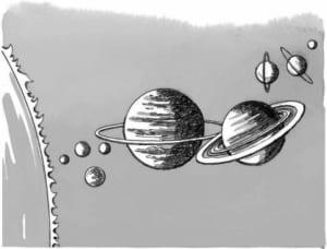 Trong đại gia đình hệ Mặt trời có những thành viên chủ yếu nào?