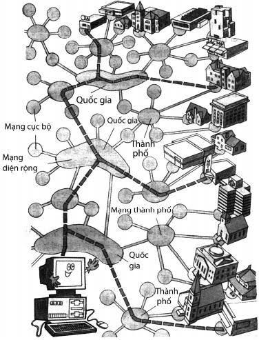 Tại sao mạng máy tính lại chia ra mạng cục bộ, mạng đô thị và mạng diện rộng?