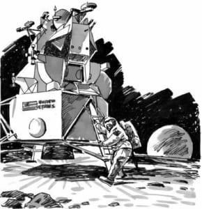 Con người lần đầu đổ bộ xuống Mặt trăng như thế nào?