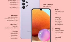 Điện thoại Samsung Galaxy A32 4G màn hình Super AMOLED 90Hz, camera 64MP, pin 5000mAh, giá từ 6,2 triệu đồng