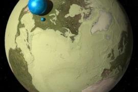 Bức ảnh mô phỏng trực quan về lượng nước có trên Trái đất